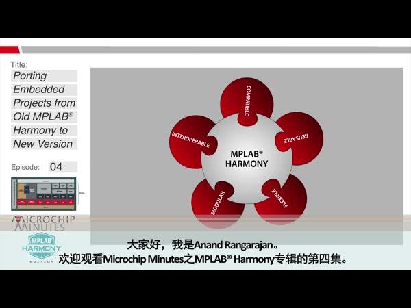 Microchip Minutes - MPLAB® Harmony专辑 - 第4集 - 将嵌入式项目从旧版本MPLAB Harmony导入新版本
