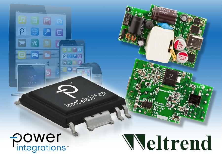 Power Integrations与伟诠电子联合推出适合智能移动设备的18 W USB PD快速充电器参考设计