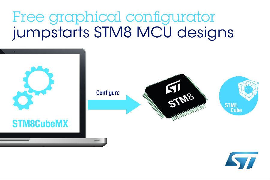 意法半导体推出新图形用户界面配置器,让STM8微控制器设计变得更快捷