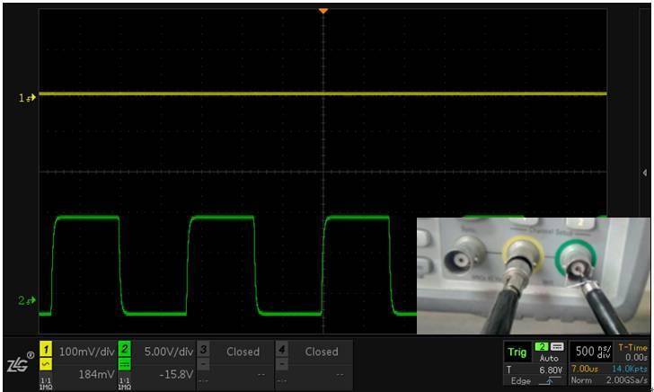 干扰波形是来自探头接地还是通道串扰?