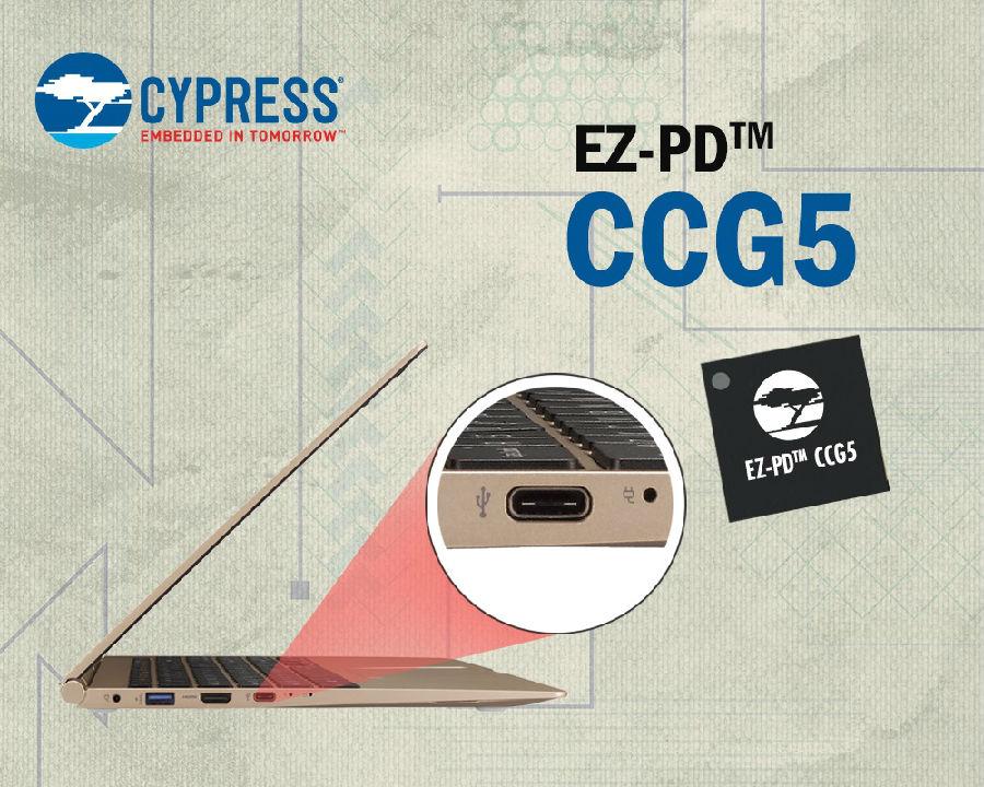 赛普拉斯推出首款支持 Thunderbolt™ 的双端口 USB-C 控制器,使 USB-C 在笔记本和台式电脑中广泛普及