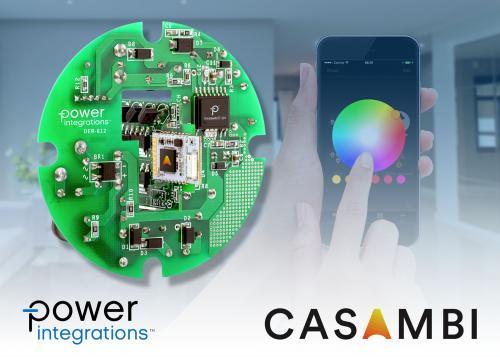 Power Integrations与Casambi Technologies联合推出调光调色智能照明参考设计