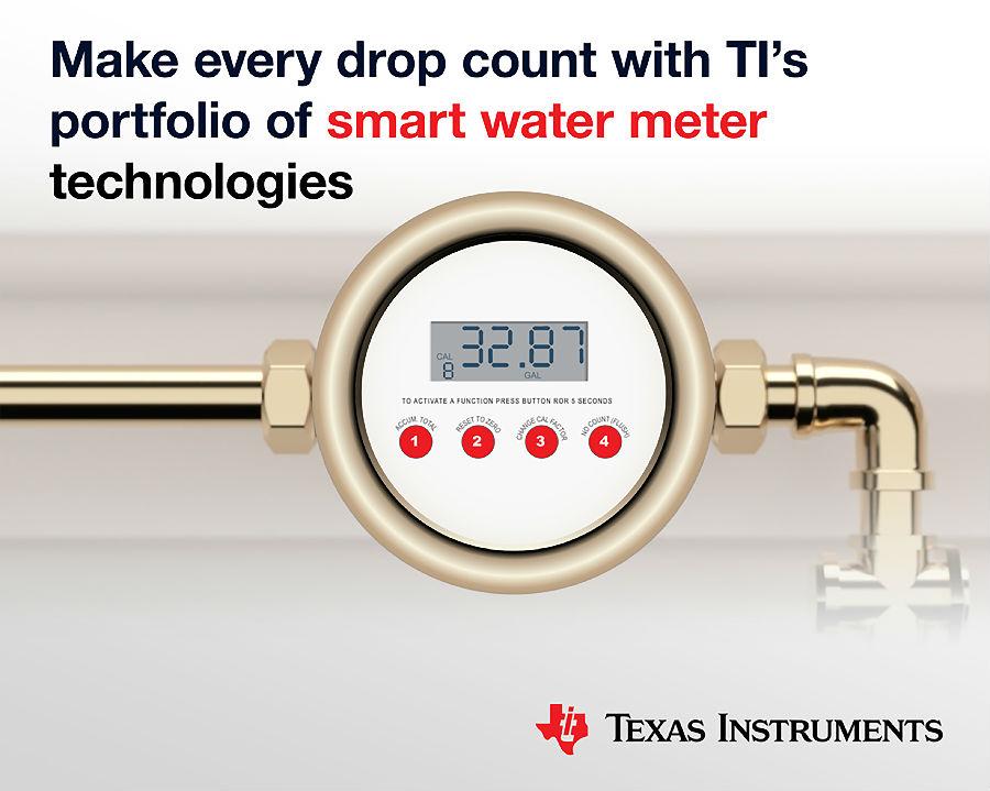 TI推出更精确的智能水表单芯片超声波感应微控制器