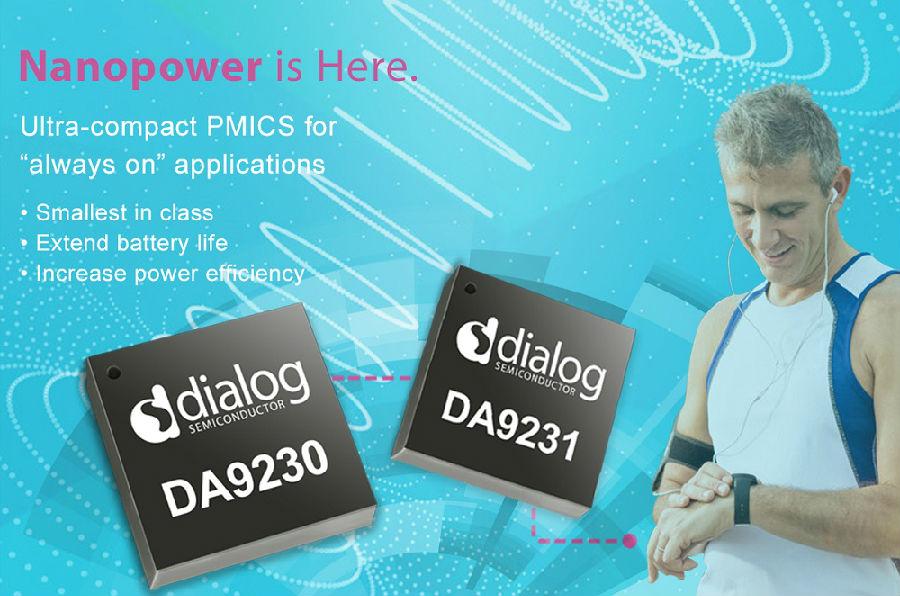 Dialog首发纳安级电源PMIC,为持续运行的连网设备延长电池续航时间