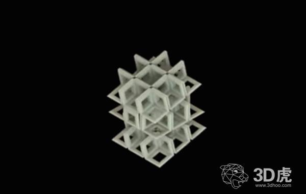 研究员开发出可以取代标准的3D打印机的3D格子折叠技术
