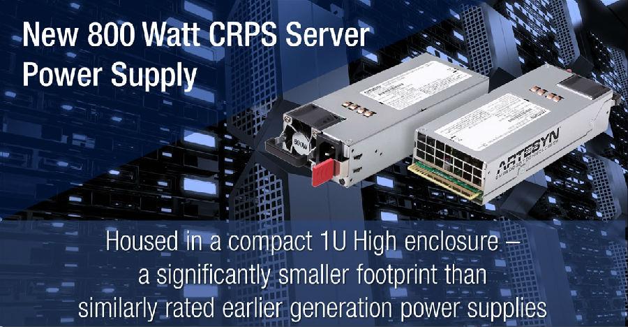 雅特生科技推出全新的800W CRPS 服务器电源