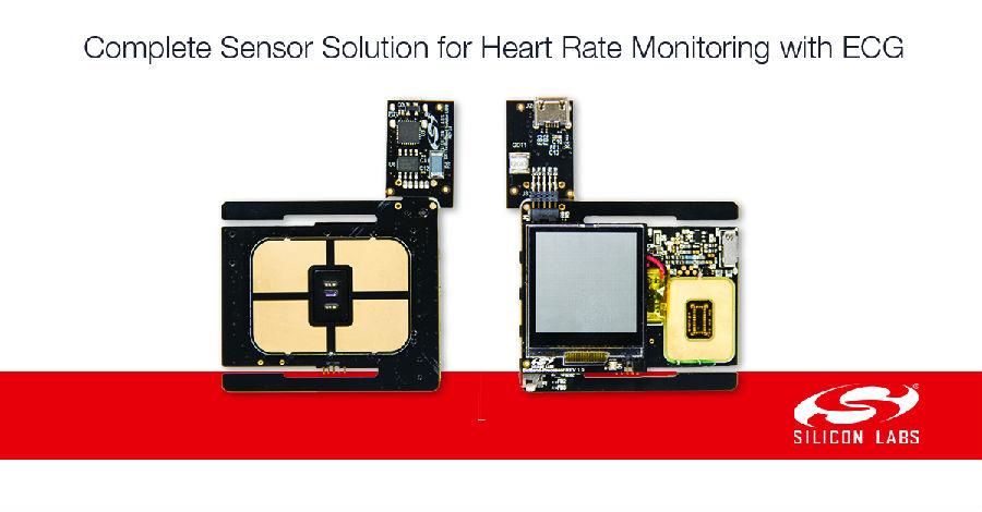 Silicon Labs生物传感器给可穿戴设备中的心率监测 增添更高级的心电图(ECG)测量功能