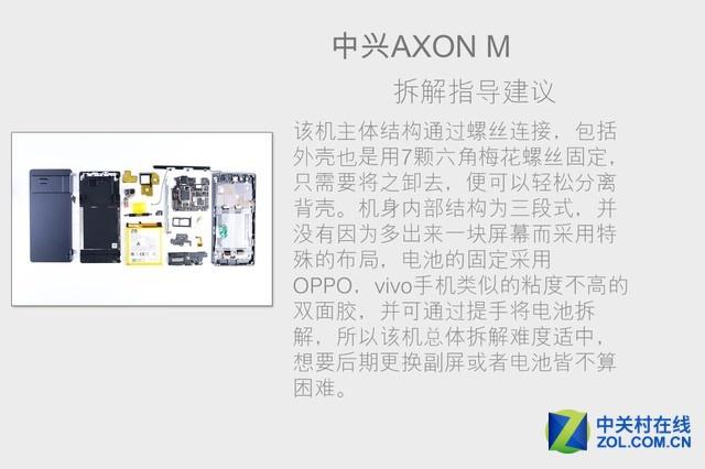 可翻折但不脆弱 中兴AXON M拆解首发