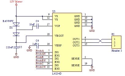 图3 电机驱动单元电路原理图