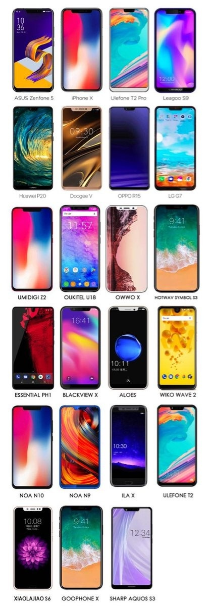手机厂商跟风刘海全面屏,苹果无语三星笑了