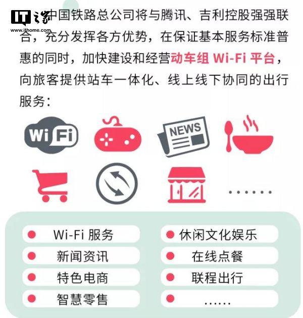 动车组Wi-Fi大升级 中国铁路/腾讯/吉利控股携手开发经营