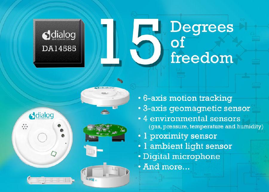 Dialog公司推出最新蓝牙低功耗多传感器开发套件,简化物联网云连接