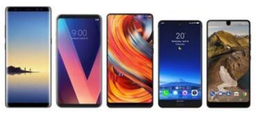 2018上半年全球智能手机Notch全面屏面板出货排行榜:三星/天马/京东方居前三