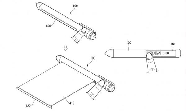 LG智能手写笔申请专利 柔性屏幕可代替手机