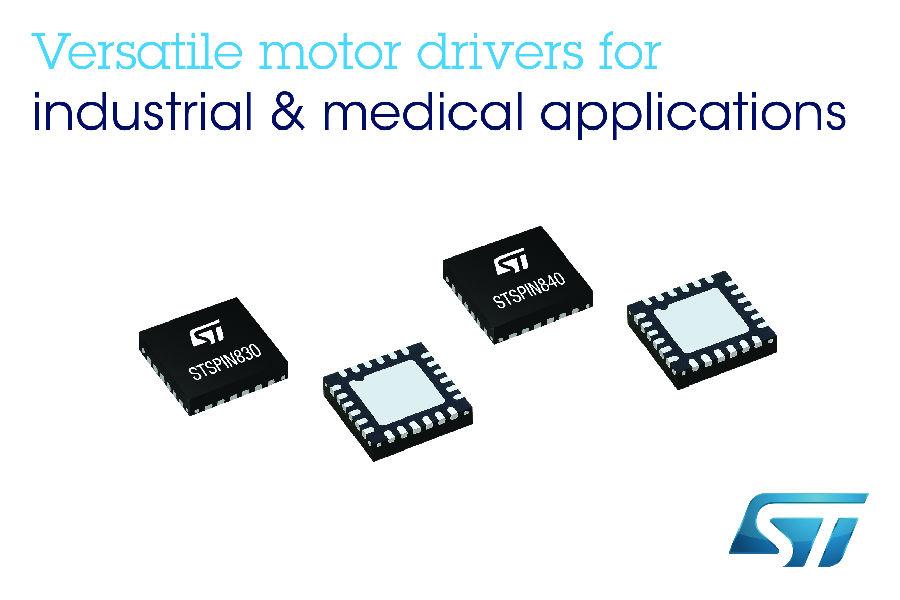 意法半导体发布新款STSPIN电机驱动器,可简化中低功率电机驱动设计,提高电机控制的灵活性