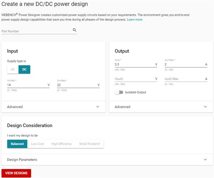 全新的WEBENCH®电源设计器将更加易于使用