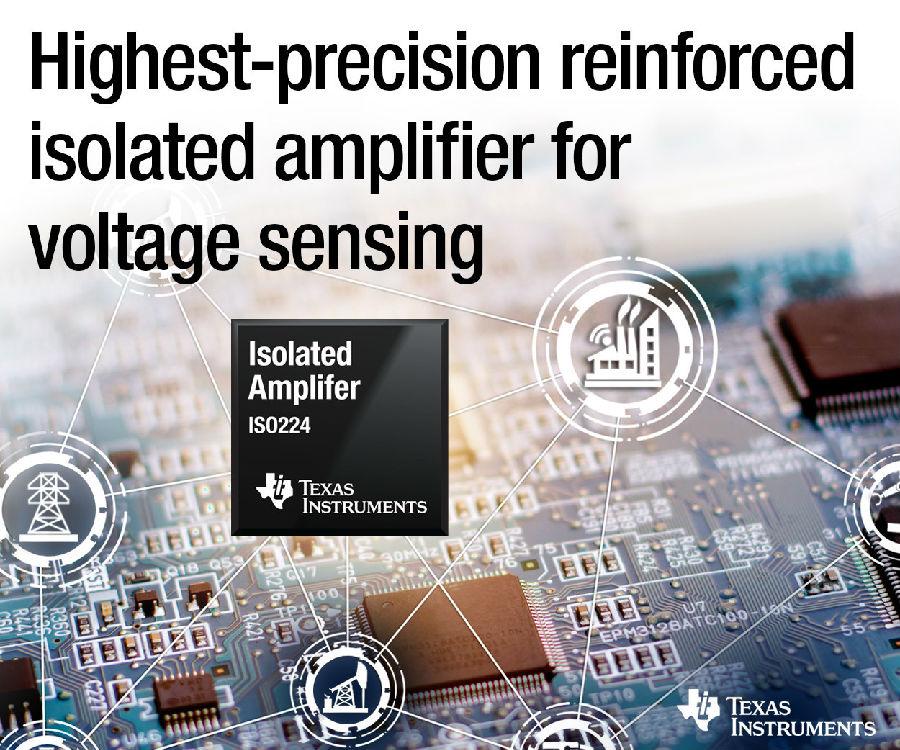 德州仪器(TI)精度最高的增强型隔离放大器可在工业电压检测应用中实现极长的使用寿命