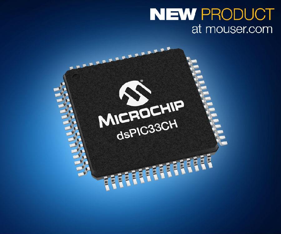 Microchip dsPIC33CH雙核數字信號控制器在貿澤開售