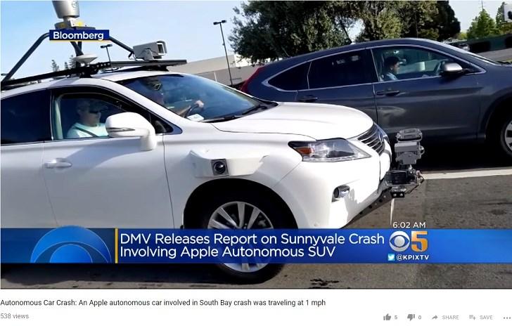 苹果自动驾驶汽车发生第二起车祸,外媒:还是比谷歌Waymo安全