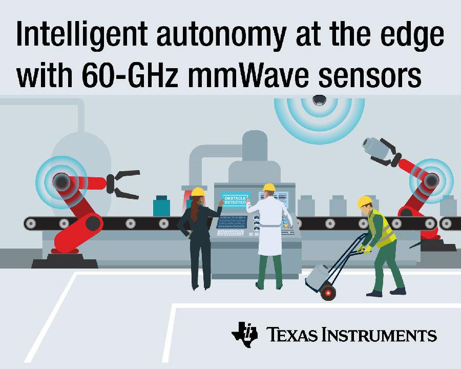 TI通过全新60-GHz传感器产品组合为全球工业市场解锁毫米波技术