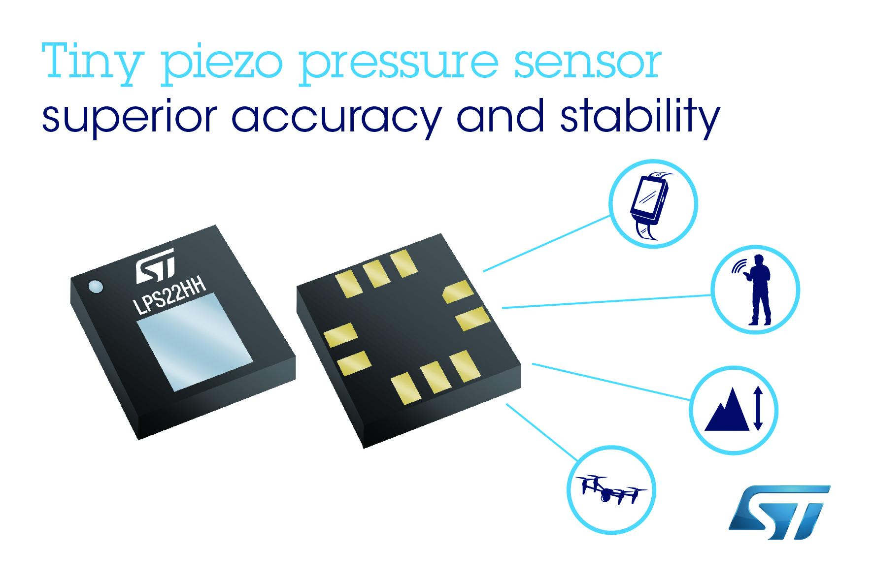 意法半导体微型MEMS压力传感器提高测量精度 避免耗时的校准工序