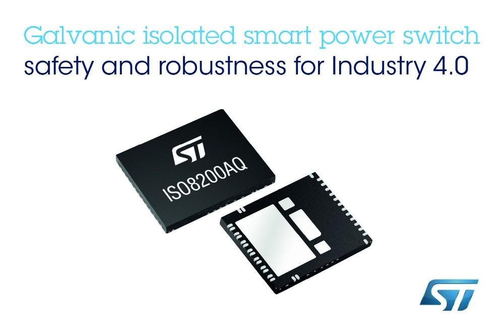 意法半导体集成SPI的电隔离式高边智能功率开关以丰富的诊断、安全和保护功能从同级产品中脱颖而出