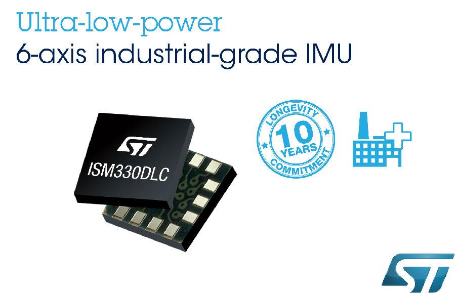 意法半导体超低功耗MEMS工业级传感器产品家族 新增6轴惯性模块