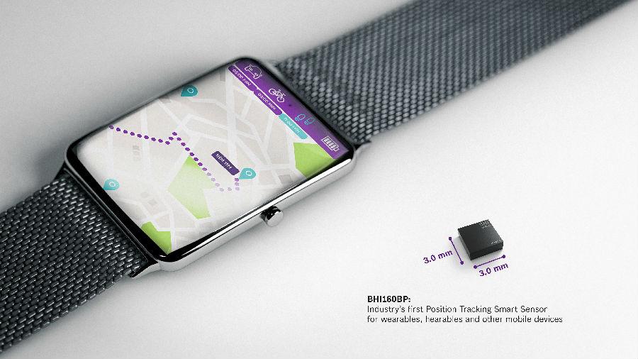 博世宣布推出业界首款用于可穿戴设备的位置追踪智能传感器BHI160BP