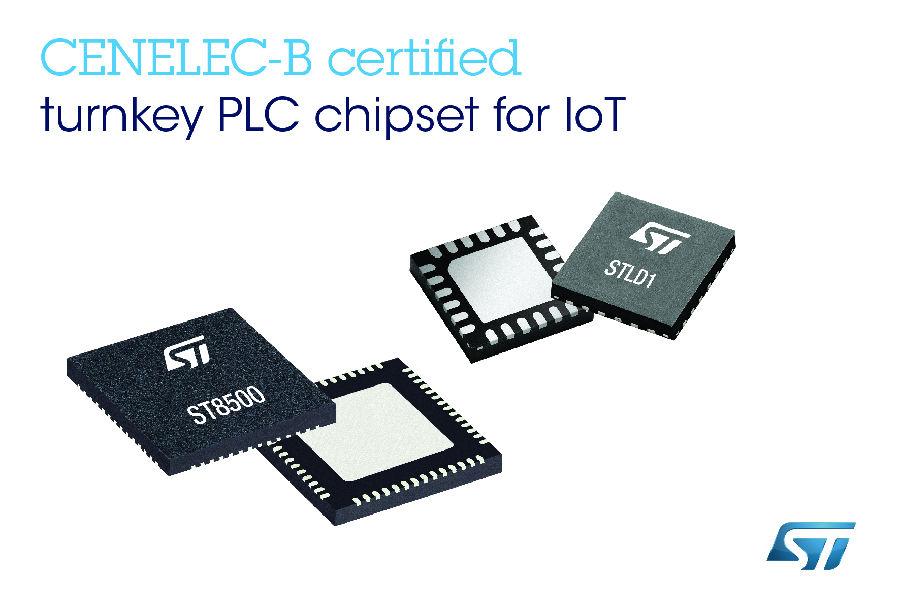 意法半导体一流的电力线通信芯片组将延伸至非公用事业应用和新兴协议标准领域