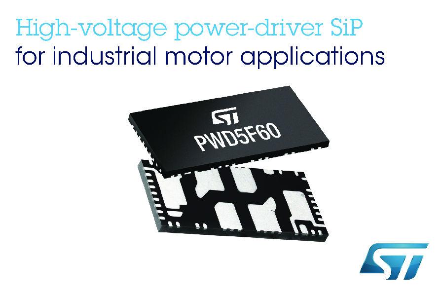 意法半导体600V/3.5A全桥系统级封装 灵活多变,安全可靠,节省空间