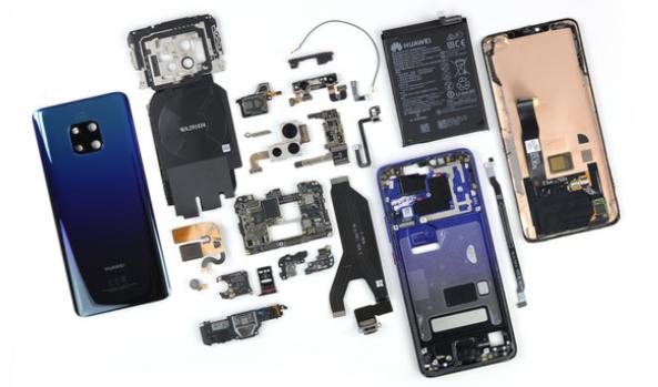华为 Mate 20 Pro 拆解:仅得 4 分!比 iPhone XS 更难修