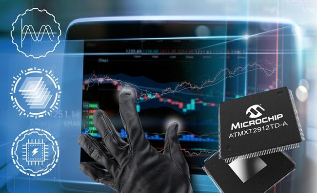 Microchip单芯片maXTouch®触摸屏控制器支持20英寸的汽车触摸屏