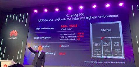 华为鲲鹏920芯片问世,最强性能面向智能计算