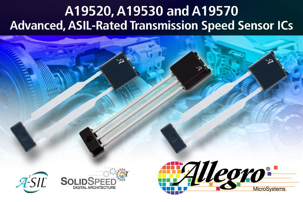 Allegro MicroSystems推出最先进的变速箱速度传感器IC