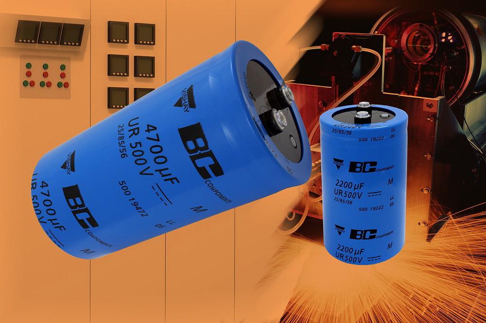 Vishay 500 PGP-ST系列螺丝端子电容器额定电压扩展至500V,使用寿命延长到5000小时