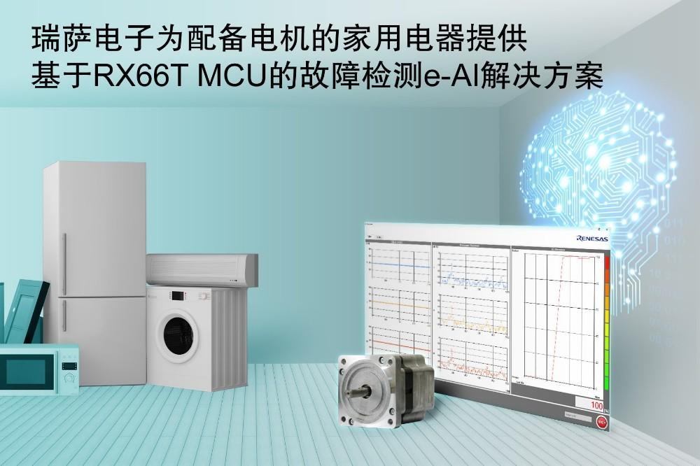 瑞萨电子电机故障检测e-AI解决最新平台送彩金可大大简化家用电器维护