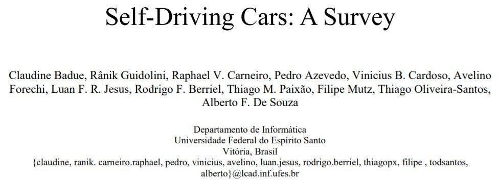 一文讀懂自動駕駛研究現狀