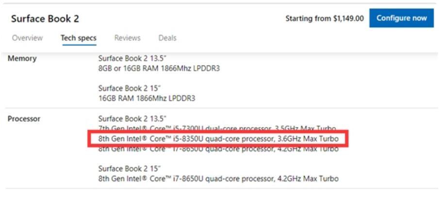 微软官网上架新版Surface Book 2:搭载i5-8350U处理器