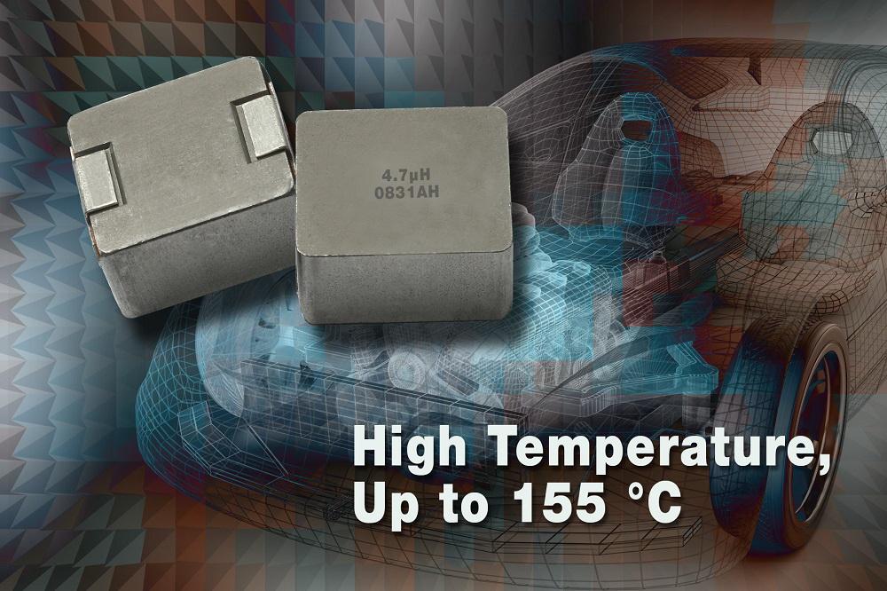 Vishay的新款5050外形尺寸汽车级IHLP® 电感器的工作温度可达+155度C