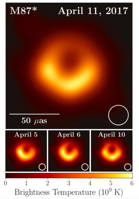 天文学家捕获的首张黑洞照片公布