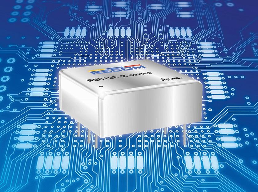 """儒卓力提供RECOM占位面积为1""""x 1"""" 的紧凑型DC/DC转换器"""