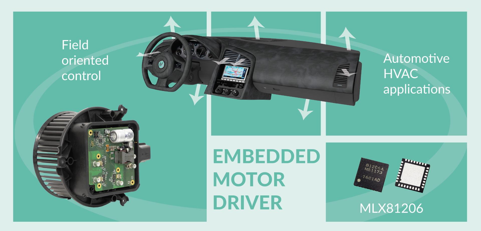 Melexis 面向汽车应用的智能嵌入式电机驱动苹果彩票好运平台系列再添新成员