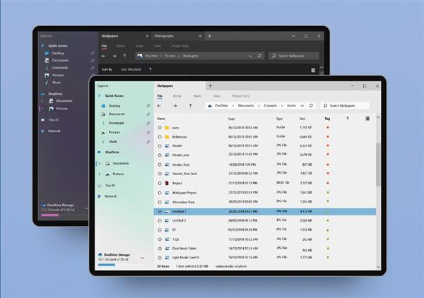 Windows 10资源管理全新概念设计来了:颜值不俗