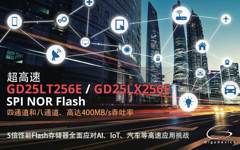 兆易创新推出全新一代高速4通道及兼容xSPI规格的8通道SPI NOR Flash产品系列