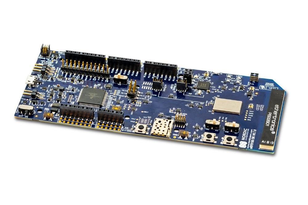 儒卓力提供Nordic的高成本效益nRF9160开发套件