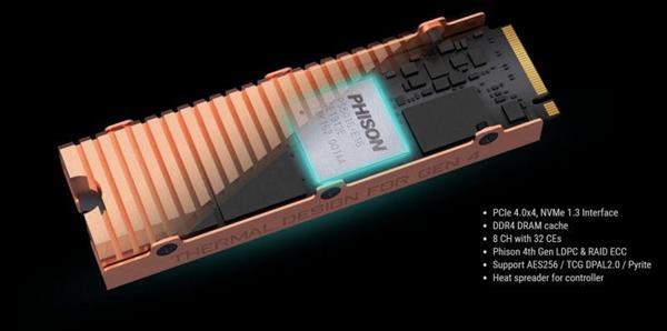 技嘉推出Aorus NVMe Gen4 SSD:搭载全铜散热片
