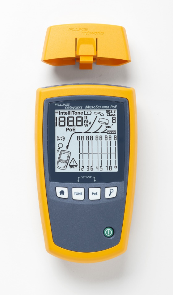 福祿克網絡推出以太網供電(PoE)設備安裝和故障診斷測試儀MicroScanner? PoE