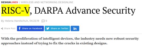 选RISC-V做国产芯片?你知道它源于美国国防部项目吗