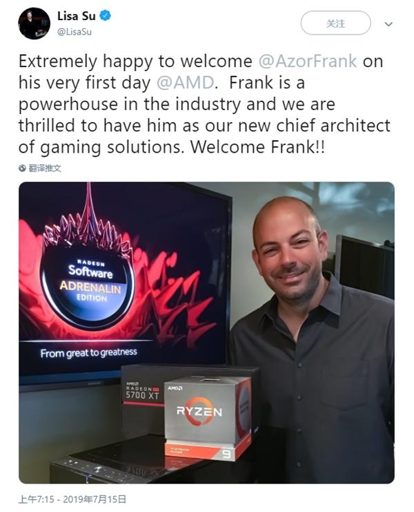 Alienware联合创始人加盟AMD任首席游戏架构师:苏妈热烈欢迎