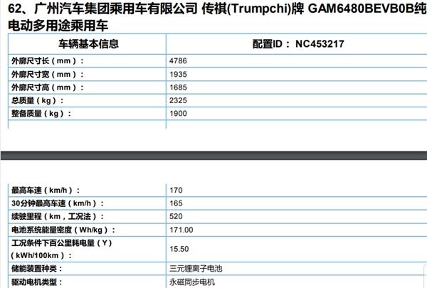 广汽新能源Aion LX工信部消息曝光:续航可达650km
